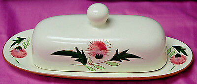 Vintage Stangl Pottery Thistle - 1/4 lb Covered Butter Dish (With Lid) [S6388]