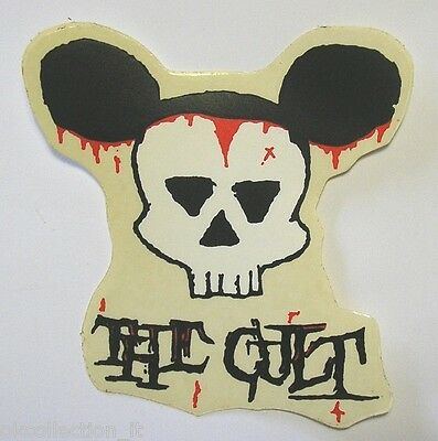 VECCHIO ADESIVO ORIGINALE / Old Original Sticker rock band THE CULT (cm 13x13)