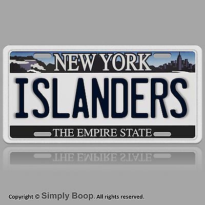 NY New York ISLANDERS Aluminum Novelty Vanity License Plate Auto Tag Brand New