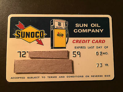 Sunoco 1973 Vintage Collectors Credit card - Sun Oil Company
