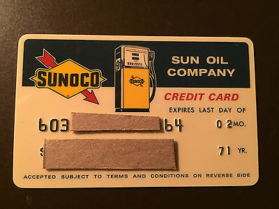 Sunoco 1971 Vintage Collectors Credit card - Sun Oil Company