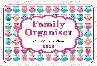 2017 Owls family organiser calendar - one week to view - ST-9302