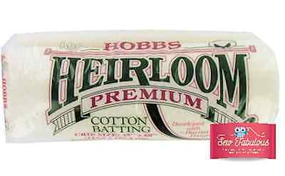 Heirloom Premium Cotton Batting / Wadding for quilting, Various sizes available