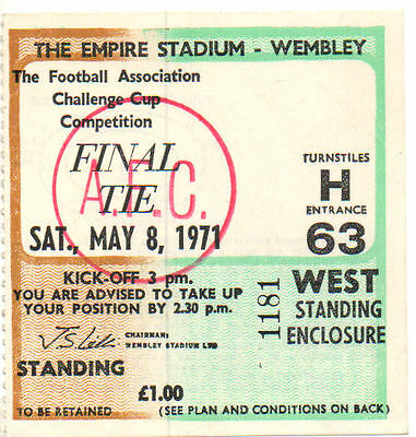 Ticket : 1971 FA Cup Final Arsenal v. Liverpool