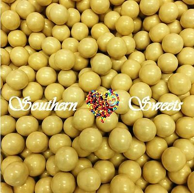 400g PEARLY GOLD SIXLETS CANDY BALLS LOLLIES BULK CANDY GLUTEN FREE LOLLIES
