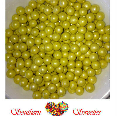 400g PEARLY YELLOW SIXLETS CANDY BALLS LOLLIES BULK CANDY GLUTEN FREE LOLLIES