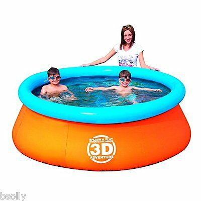 Splash & Play 3D Adventure 7-Feet Fast Set Family Pool