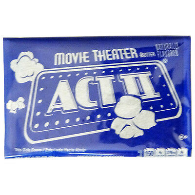 Act II Movie Theater Butter Microwave Popcorn 2.75 Ounce Pack of 6