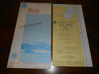 1975 NOAA Nautical Chart #11393 Florida Lake Wimico to East Bay