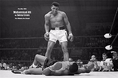 "Muhammad Ali The World's Greatest Boxer Art Print Wall Poster 36""x24""  055"