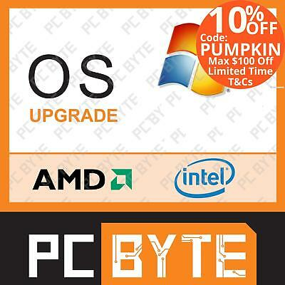 PCByte Computer System OS Upgrade Windows 10 Home
