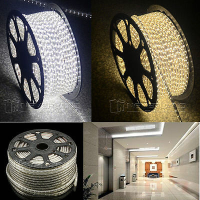 220V 5-100M 60led/M 5050 SMD LED Rouleau Ruban Strip Rope Light Lamp Eclairage