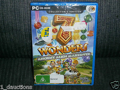 New Sealed Pc Cd-Rom Game 7 Wonders Ancient Alien Makeover Collectors Edition