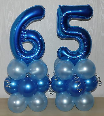 65th BIRTHDAY AGE 65 MALE PARTY FOIL BALLOON DISPLAY TABLE CENTREPIECE
