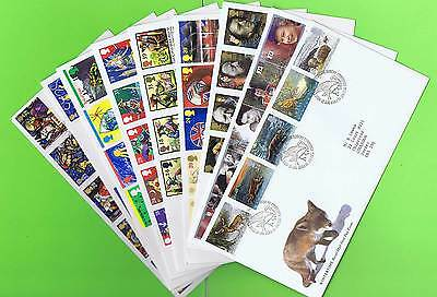 G.B. 1992 Collection of nine different First Day Covers