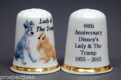Lady & The Tramp 60th Anniversary of Disney Film China Thimble B/06