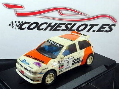 "Seat Ibiza kit Car ""Robert Mercader"" Blanco REF. 8390 TYCO 1996"
