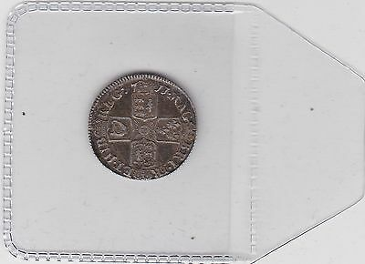 1711 Queen Anne Sixpence In Very Fine Condition