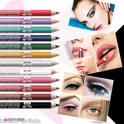 12 x EYESHADOW, EYELINER, LIPLINER, LIPSTICK PENCILS DAVIS SET WHOLESALE JOB LOT