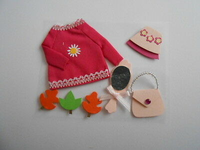 Girls Outfit Embellishment Toppers For Cards And Crafts