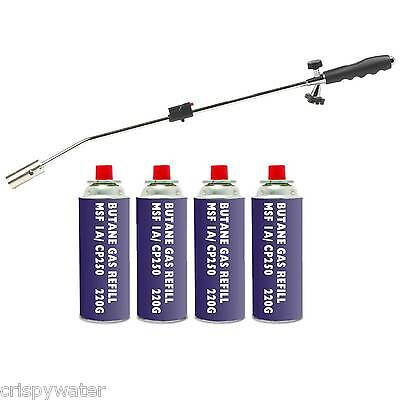 Gas Weed Wand Blowtorch Burner Killer Garden Torch Blaster and/or Butane Gas