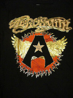 Aerosmith Vintage Logo Freeze Babydoll T Shirt Medium Black NEW With Tags