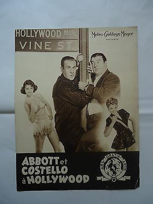 ABBOTT AND COSTELLO IN HOLLYWOOD// french pressbook