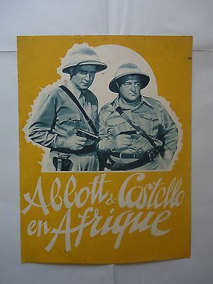 ABBOTT AND COSTELLO/  AFRICA SCREAMS// french pressbook