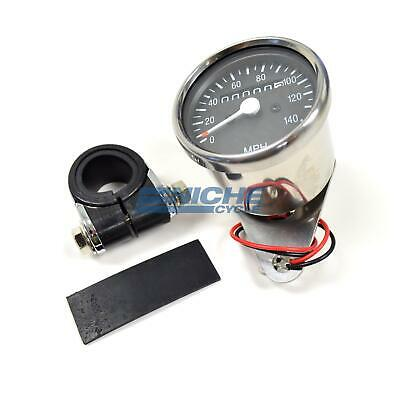 Mini Universal Motorcycle Mechanical 140 MPH Speedo Speedometer Gauge 1:1