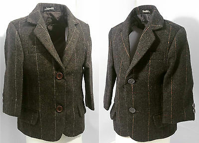 NEW Children Casual Jacket Fashion Tweed Heritage fancy Dress Party Wear 0-12yrs