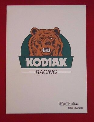 1989 NASCAR Rusty Wallace Kodiak Blue Max #27 Pontiac Media Press Kit Daytona