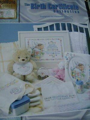 Birth Certificate Collection Sampler Cross Stitch Booklet Sleeping Baby/Grandma
