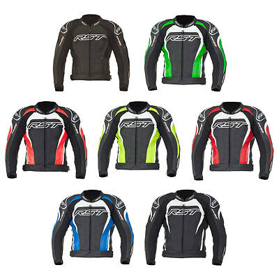 RST Tractech Evo II 2 Leather Motorcycle Motorbike Jacket   All Colours & Sizes