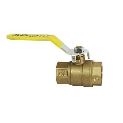 "1-1/4"" IPS Full Port Brass Ball Valve CSA Approved 600 WOG Lead Free Threaded"