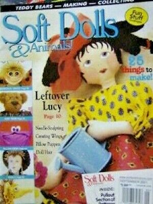Soft Dolls & Animals Magazine September 2001 -25 Projects Giraffe Bear Butterfly