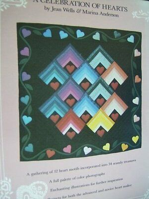 A Celebration Of Hearts Quilting Book Patchwork, Applique- Many Designs