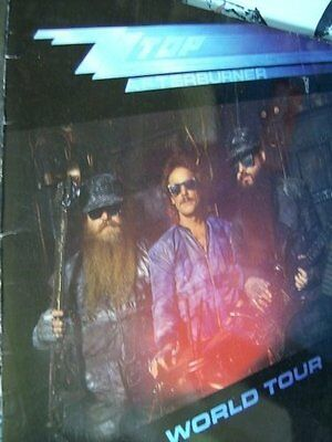 ZZ Top Afterburner 1986 Tour Program Book & 1982 Ticket Stubb