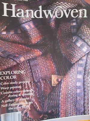 Handwoven November/December 1988 Color, Dyeing, Spinning, Scarves