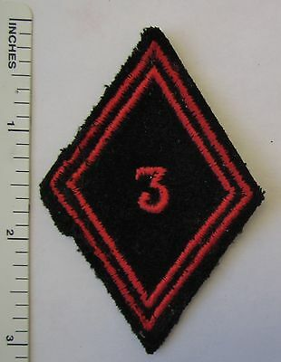 ORIGINAL Vintage FRENCH ARMY 3rd GENIE ENGINEERS SLEEVE DIAMOND UNIT PATCH
