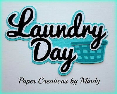 Craftecafe Mindy Laundry Day Home  premade paper piecing scrapbook Title