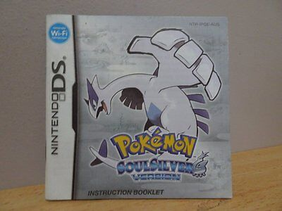 Pokemon SoulSilver Version..(Instruction Book Only) ~ NO CASE OR GAME INCLUDED!