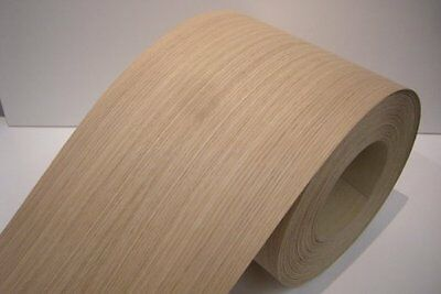 Real wood Veneer Oak european with Hot melt adhesive iron-on 30 cm Wide