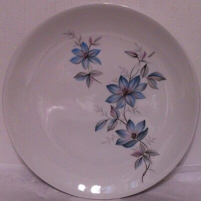 Johnson Brothers Snowhite Blue Clematis Salad Plates - Set Of 9 - Excellent