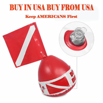 Scuba Diving Diver Below Inflatable Signal Floater Float Dive Flag Red Bouy Ball