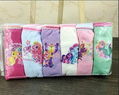 1Set 6 Pairs My Little Pony Kids Girl' Briefs Panties Underpants Underwear gift