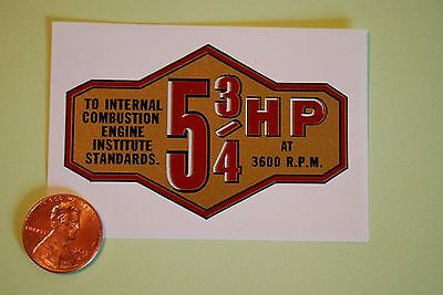 Briggs & Stratton 5-3/4-HP banner decal late 50's