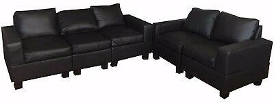 New PU Leather Sofa Couch Lounge Corner Suite Furniture Chaise Set