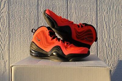 Nike Air Penny V Total Crimson Orange-Black U.s. Men's Sz 10.5 - [537331-800]