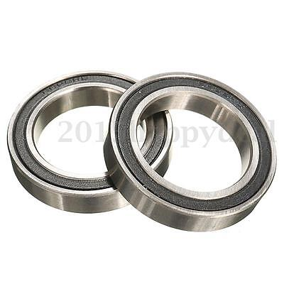 2Pcs 6805 2RS Hybrid Bearing Wheel Hub Pedals Bottom Brackets Sealed Bearings