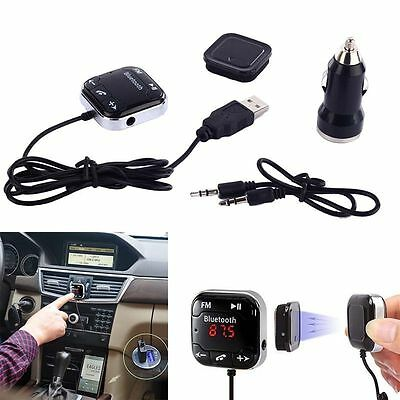 Kit Voiture Bluetooth Sans-fil Transmetteur FM MP3 Lecteur SD USB LCD distance
